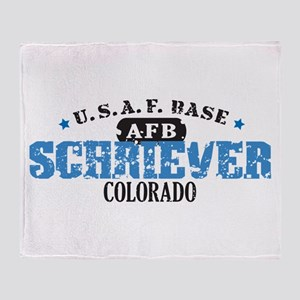 Schriever Air Force Base Throw Blanket