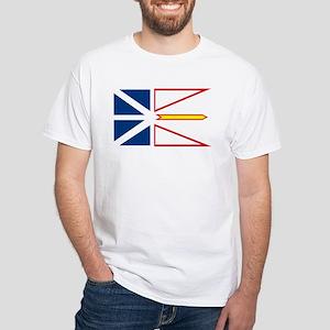Newfoundland Flag White T-Shirt