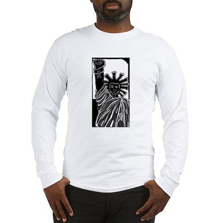 Black Statue of Liberty Long Sleeve T-Shirt