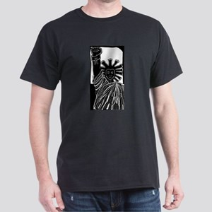 Black Statue of Liberty Black T-Shirt