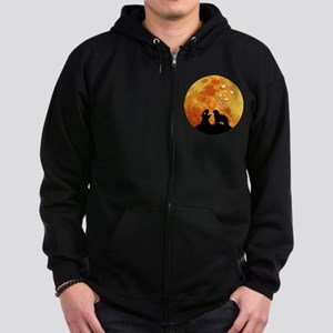 Bergamasco Sheepdog Zip Hoodie (dark)