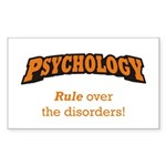 Psychology / Disorders Sticker (Rectangle)