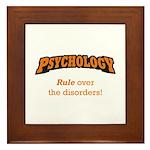 Psychology / Disorders Framed Tile