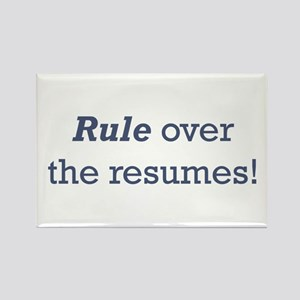 Rule / Resumes Rectangle Magnet