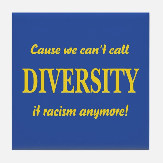 Call it racism Tile Coaster