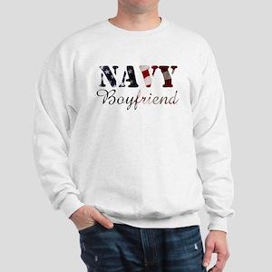 Navy Boyfriend Flag Sweatshirt