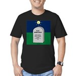 RIP Instant Replay Men's Fitted T-Shirt (dark)