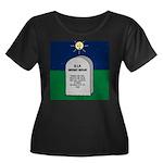 RIP Inst Women's Plus Size Scoop Neck Dark T-Shirt