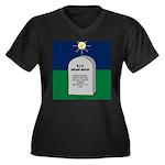 RIP Instant Women's Plus Size V-Neck Dark T-Shirt