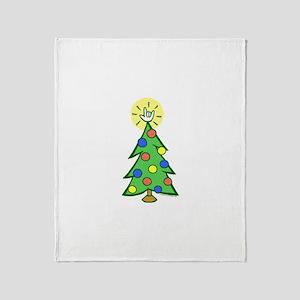 ILY Christmas Tree Throw Blanket