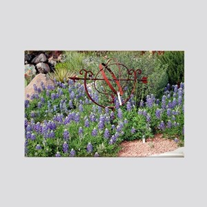 Texas Spring Rectangle Magnet