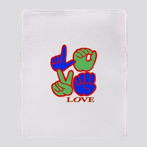 Square F.S. LOVE Throw Blanket