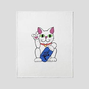 ILY Neko Cat Throw Blanket