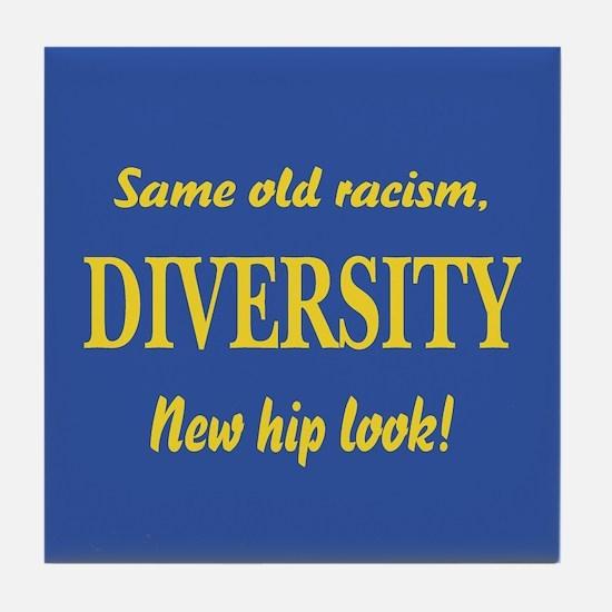 Same old racism Tile Coaster