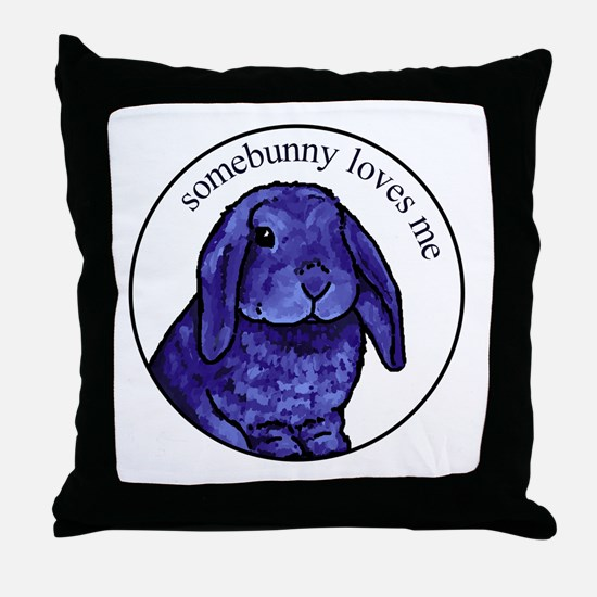 Somebunny Throw Pillow