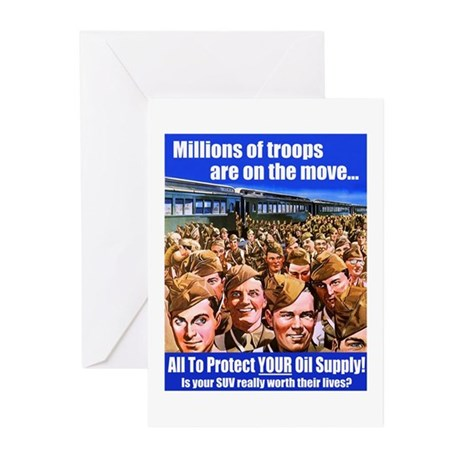 Millions of Troops Greeting Cards-10 Pk