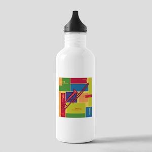 Trombone Colorblocks Stainless Water Bottle 1.0L