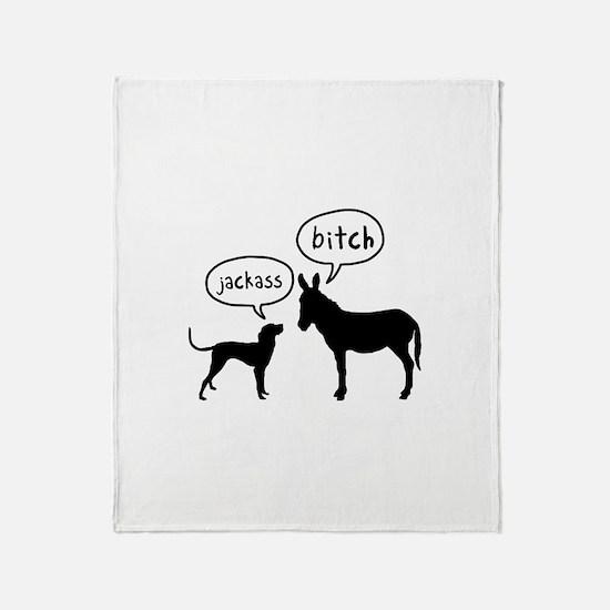 Bluetick Coonhound Throw Blanket