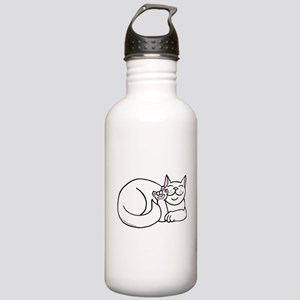 White ASL Kitty Stainless Water Bottle 1.0L