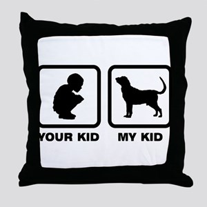 Bloodhound Throw Pillow