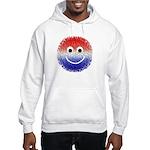 """USA Fuzzy"" Grey Hooded Sweatshirt"