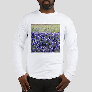 Texas Field of Blue Long Sleeve T-Shirt