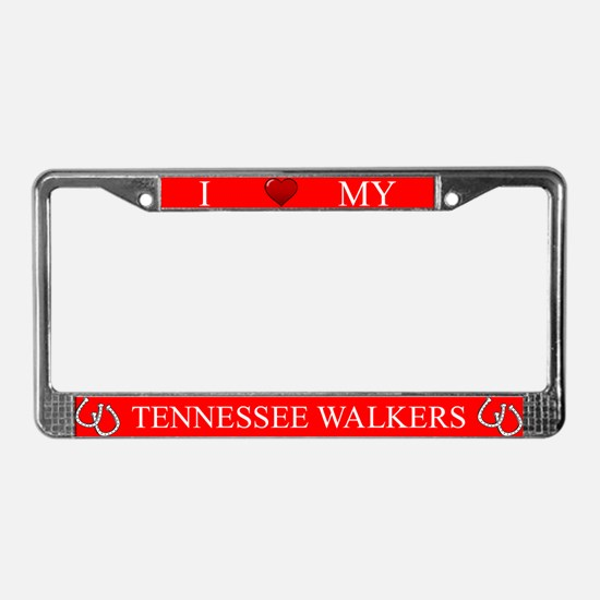 Red I Love My Tennessee Walkers Frame