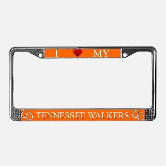 Orange I Love My Tennessee Walkers Frame