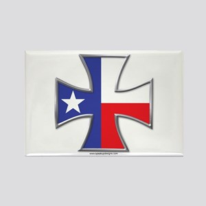Texas Flag Iron Cross Rectangle Magnet