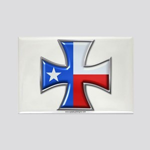 Iron Cross Texas 3D Rectangle Magnet