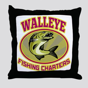 walleye fish Throw Pillow