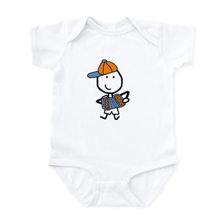 Boy & Accordion Infant Bodysuit