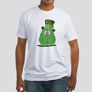 Green Fuzzy Fitted T-Shirt