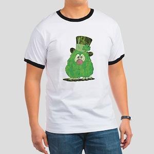Green Fuzzy Ringer T