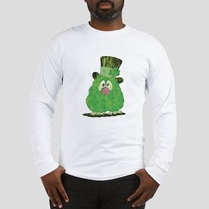 Green Fuzzy Long Sleeve T-Shirt