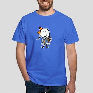 Girl & Accordion Dark T-Shirt
