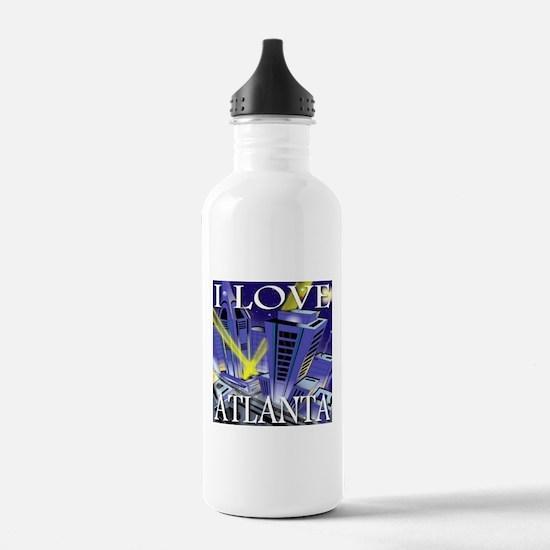 I Love Atlanta Spotlights Water Bottle