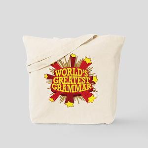 World's Greatest Grammar Tote Bag