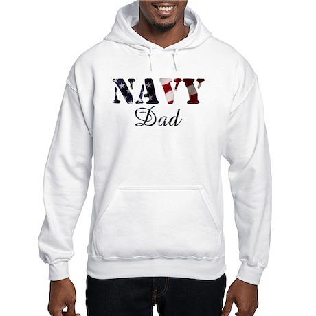 Navy Dad Flag Hooded Sweatshirt