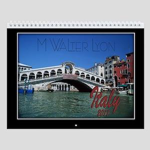 Italy Wall Calendar by M Walter Lyon