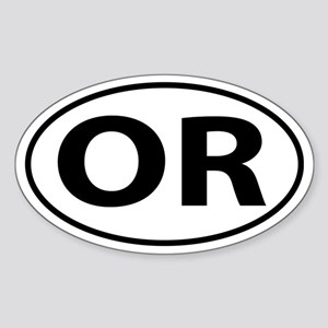 OR Oval decal sticker (Oval)