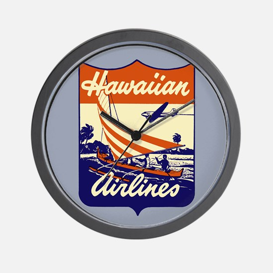Retro Hawaiian Air Wall Clock