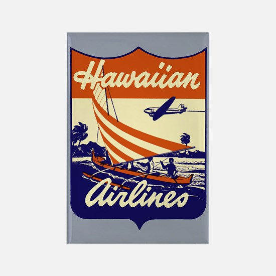 Retro Hawaiian Air Rectangle Magnet
