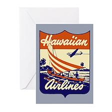 Retro Hawaiian Air Greeting Cards (Pk of 10)