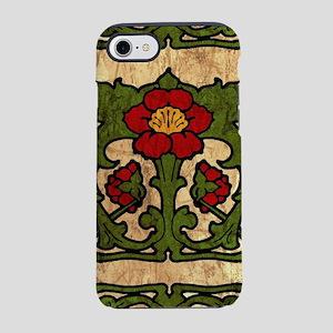Art Nouveau Floral Motif Border iPhone 7 Tough Cas