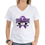 Strike Pancreatic Cancer Women's V-Neck T-Shirt
