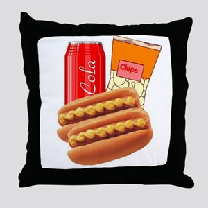 Lunch Combo Throw Pillow