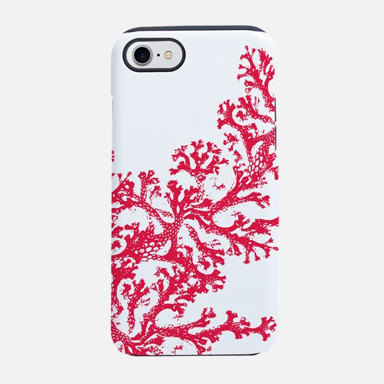 Red Coral Pattern iPhone 7 Tough Case
