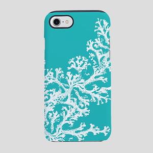 Aqua Coral Pattern iPhone 7 Tough Case