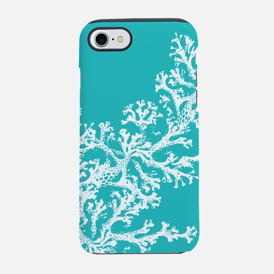 Aqua Coral Pattern iPhone 7 Tough Case